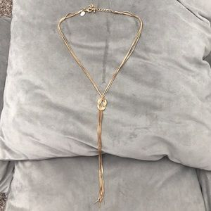 Long Gold adjustable necklace